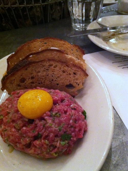 Steak tartare at the Walrus and the Carpenter in Seattle