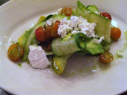 Zucchini, tomato and feta salad at the Walrus and the Carpenter in Seattle